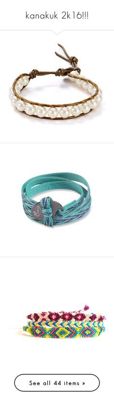 """kanakuk 2k16!!!"" by molliekatemcc ❤ liked on Polyvore featuring jewelry, bracelets, boho bangles, boho style jewelry, leather wrap bracelet, wrap bracelet, polish jewelry, accessories, chaco and woven friendship bracelet"