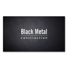 Dark Leather Texture Constructions Business Card
