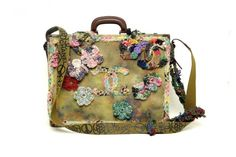 Chanel Messenger Canvas Floral Applique Bag - Spring Summer 2015