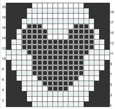 Mickey Mouse pattern to make a scarf or blanket