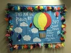 This year has flow by end of the year closing bulletin board RA resident assistant