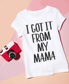 I got it from my mama | Girls' fashion | Kids' clothes | Graphic tee | The Children's Place