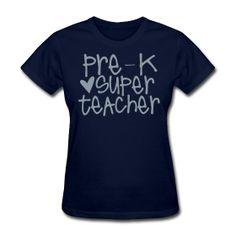 prek super teacher (in PINK XXL) I OWN IT