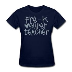prek super teacher (metallic gray)