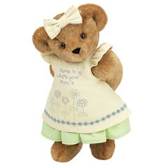 """15"""" """"Home is Where Your Mom Is"""" Bear from Vermont Teddy Bear. $79.99. #MothersDay"""