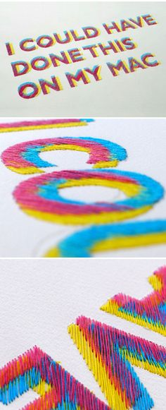 Embroidered typography