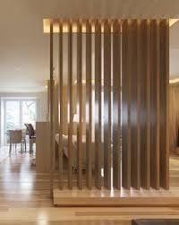 partisi - Google Search Wood Partition, Living Room Partition Design, Room Partition Designs, Modern Classic Interior, Room Divider Shelves, Wood Slat Wall, Timber Slats, Divider Design, Pantry Design