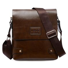 Fashion Men's Messenger Bag With Letter Print and Cover Design