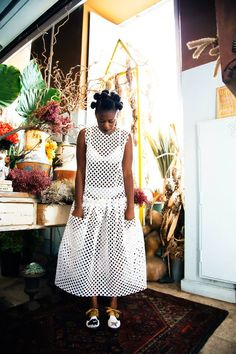 "fashionsambapita:  ""Shy Girl"" Editorial byFashion Sambapita Model:Wilma Moisés Ph:White Negatives Wearing:Alexandra Moura  BGKI - the #1 website to view fashionable & stylish black girlsshopBGKI today"