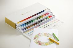oh my effing buddha!! i can't breathe!! limited edition sakura-coupy pencils with 90 different colors!! my total favorite coloring tool!!