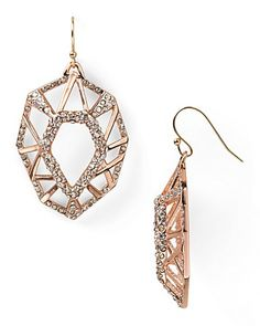 Alexis Bittar Delano Rose Gold Deco Earrings - New Arrivals - Jewelry - Jewelry & Accessories - Bloomingdale's