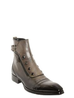 aff7d56c1ebe JO GHOST - GRADIENT LEATHER ANKLE BOOTS - GREY Shoe Boots