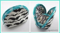 Clam Shell Make-Up Bag - Free Sewing Video | PatternPile.com