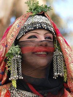 Traditional Bridal Dress from Yemen.