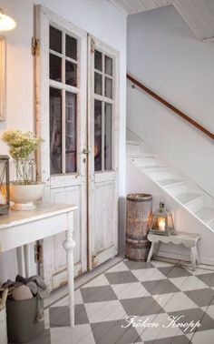 Love this rustic floor