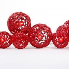 String Ball Lights, White or Red by The Backyard Boutique
