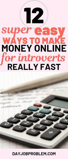 Learn how to make money fast for introverts. Make money fast online, even if you are not super outgoing or sales minded. Make money online easily and make an Make Money Online Surveys, Make Money Fast Online, Earn Money Fast, Make Easy Money, Quick Money, Ways To Earn Money, Make Money From Home, Extra Money, Online Earning