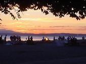 golden gardens, Ballard. sunset revelry.
