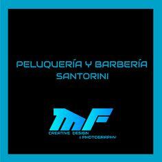 Diseños para Peluquería & Barbería Santorini Nintendo Games, Santorini, Logos, Design Logos, Logo, Santorini Caldera