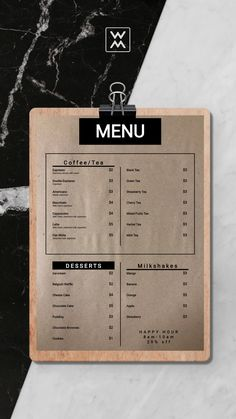 Coffee shop menu on craft paper Cafe Menu Design, Cafe Shop Design, Menu Card Design, Restaurant Menu Design, Small Cafe Design, Coffee Shop Branding, Coffee Shop Menu, Small Coffee Shop, Cafeteria Menu