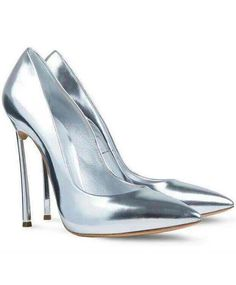 Silver High Heel Sparkle Shoes 67.50