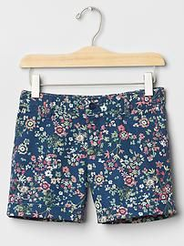 Floral midi shorts