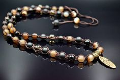 Men's Shamballa Necklace Agate Necklace Gift For Him