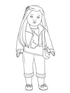 american girl isabelle doll coloring page from american girl category select from 22533 printable crafts