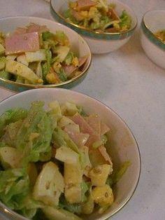 CABBAGE HARD BOILED EGG SALAD, キャベツとゆで卵の❤激うま❤サラダ (ham, mayo, sesame)