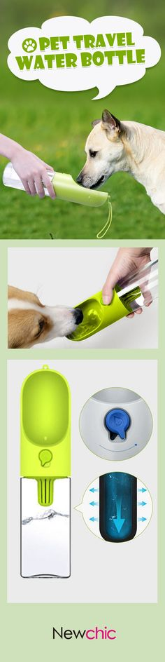 Save $8.77 Pet Travel Portable Water Dispenser Bottle Travel Feeding Bowl Outdoor Pet Dog Filtrate Kettle