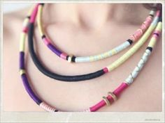 DIY: Tribal necklace from shoelaces
