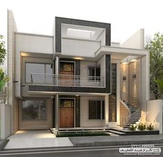 Inspiration for our exterior h design, villa design, modern house plans, modern house House Front Design, Small House Design, Cool House Designs, Modern House Design, Independent House, Front Elevation Designs, House Elevation, Villa Design, Modern Exterior