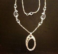 Paisley Ring / Charm Holder Necklace by AloraLocks on Etsy, $80.00