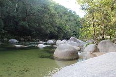 Mossman Gorge, Far North Queensland                                        icy cold water brrr brrr brrr