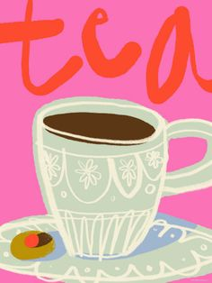 I love #tea because it can also be depicted in paintings, drawings and any other artistic images.