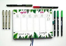 botanical jungle leaf bullet journal theme