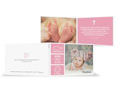 llll➤ wunderschöne Taufeinladung – Trendy in Rosa einfach selbst gestalten. ✓ 100% Zufriedenheitsgarantie ✓ Persönliche Kontrolle & Herausragende Qualität