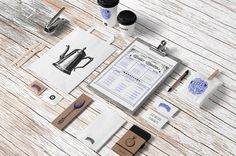 Coffee stationery and packaging mockup. Forgraphic™ is a brand new design studio specializing in creating corporate identity mock-ups. They recently develo