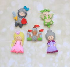 Hello dear buyers! Welcome to my miracle world where all your felt dreams will come true. This listing is for fairy tale characters felt ornaments. Price is given per piece. Please choose from dropping menu. Measurements Dragon 4 height, 3 width Knight 5 height, 4 1/2 width