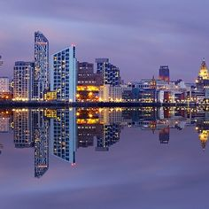 A modern look at the Liverpool skyline. Very cool photo of Liverpool. One of the UK's very best skylines.