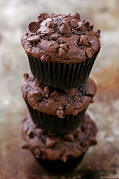 These rich and tender chocolate muffins make a perfect breakfast treat. They're a chocolate lover's dream!