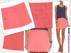 80 Modelos de Saias Feminina que Esta na Moda 2015 saia coral gode