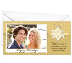 Photo Cards : Snowfall Christmas Holiday Photo Card Template