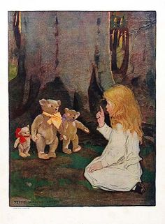 "Jessie Willcox Smith,an American illustrator...""Goldilocks and the Three Bears"""