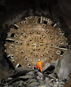 Step inside the world's longest railway tunnel The Gotthard Base Tunnel - Some very large drills were used for the £8.41bn project Credit: AFP