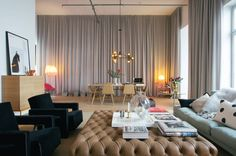 all shades of grays and neutrals in a spacious space