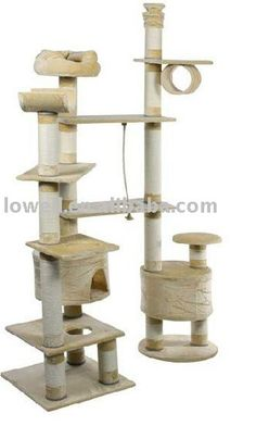 Deluxe Cat Tree Tower #TreeCheap - Stylendesigns.com