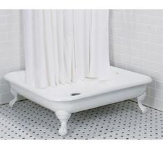 I would have loved to use this cast iron shower base for my 50s bathroom renovations a few years ago. In two of my bathrooms I was forced to use Swanstone (fiberglass style) bases because I simply could not find any other materials. I've seen numerous vintage 50s bathrooms with these square style tubs/showers. The …