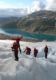 Gletscherwandern auf dem Folgefonna, Norwegen - Foto: Folgefonn Breførarlag http://www.visitnorway.com/us