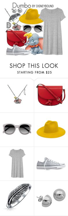 """""""Dumbo"""" by leslieakay ❤ liked on Polyvore featuring Disney Couture, KC Jagger, Ace, REINHARD PLANK, Gap, Converse, Bling Jewelry, Lord & Taylor, disney and disneybound"""